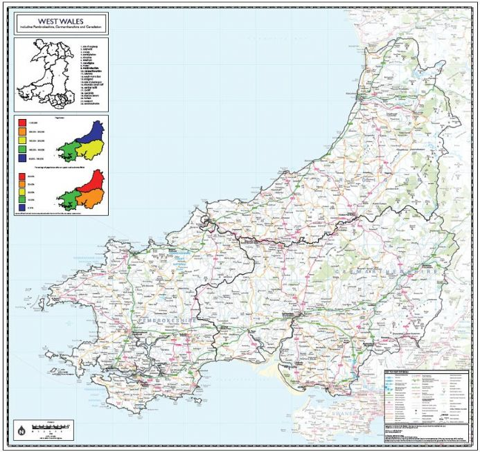 West Wales County Planning Wall Map